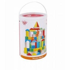 Blocos Alfabéticos - 80 peças - Tooky Toy