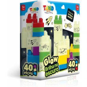 Blocos de Montar - Glow Brilha no Escuro - 40 Peças - Tand Kids