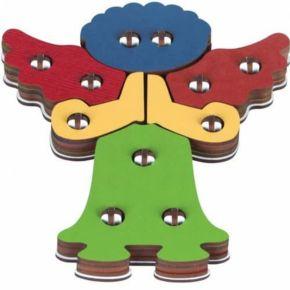 Brinquedo Religioso - Troque e Encaixe as Cores - Anjo Rezando - Carlu
