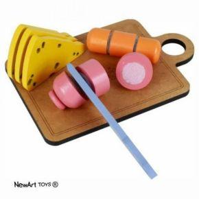 Coleção Comidinhas - Kit Frios Com Corte - NewArt