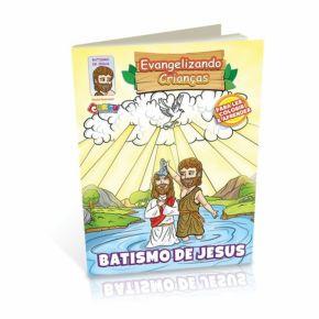 Livrinho Religioso Para Colorir - Batismo de Jesus - Carlu