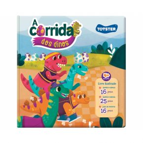 Livro Brinquedo - A Corrida dos Dinos - Toyster