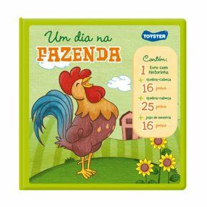 Livro Brinquedo - Um Dia na Fazenda - Toyster