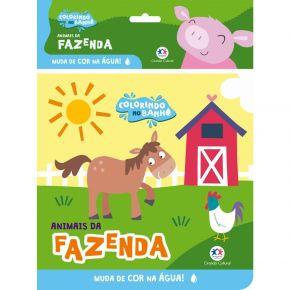 Livro - Colorindo no Banho - Animais da Fazenda - Ed. Ciranda Cultural