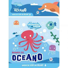 Livro - Colorindo no Banho - Animais do Oceano - Ed. Ciranda Cultural