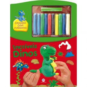 Livro - Criando Com Massinha - Incríveis Dinos - Ed. Ciranda Cultural