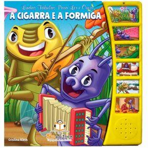 Livro Lindas Fábulas Para Ler e Ouvir - A Cigarra e a Formiga - Ed. Blu