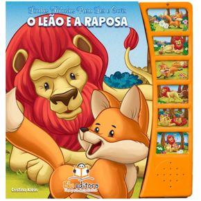 Livro Lindas Fábulas Para Ler e Ouvir - O Leão e a Raposa - Ed. Blu