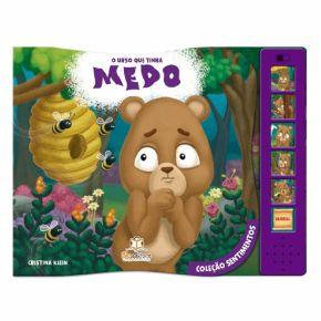 Livro Sonoro - O Urso que Tinha Medo - Ed. Blu