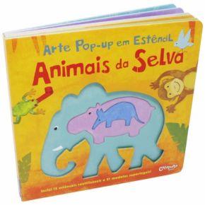 Livro de Arte Pop-Up em Estêncil - Animais da Selva - Ed. Catapulta