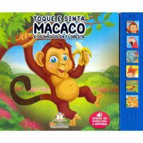 Livro Sonoro - Macaco e os Amigos da Floresta - Ed. Blu