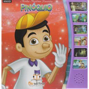 Livro Sonoro Minha História Favorita - Pinóquio - Ed. Blu