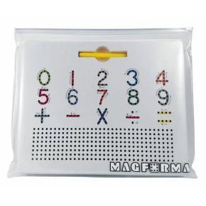 Lousa Magnética Dupla Face Letras e Números - Magforma