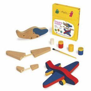Pequeno Aviador - Para Montar e Pintar - Alegria Sem Bateria