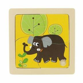 Quebra-Cabeça 4 Peças - Elefante - Dican