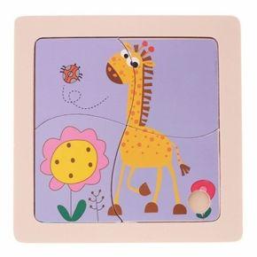 Quebra-Cabeça 4 Peças - Girafa - Dican