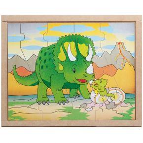 Quebra-Cabeça Animais e Filhotes - Dinossauros - Carlu