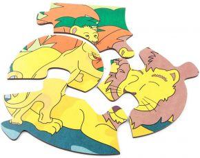 Quebra-Cabeça Animais e Filhotes - Leão - Carlu