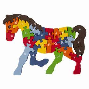 Quebra-Cabeça com Alfabeto e Números - Cavalo - Fábrika dos Sonhos
