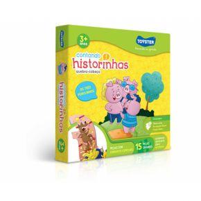 Quebra-Cabeça Contando Historinhas - Os Três Porquinhos - Toyster