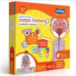 Quebra-Cabeça Explorando o Corpo Humano - Toyster