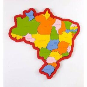 Quebra-Cabeça Mapa do Brasil - Regiões, Estados e Capitais - NewArt