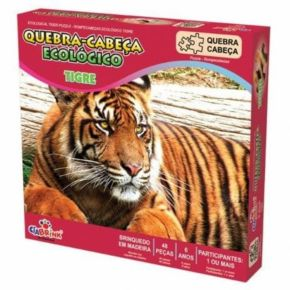 Quebra-Cabeça Ecológico - Tigre - Ciabrink