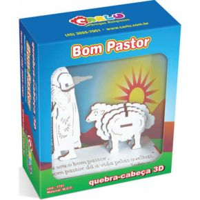 Quebra-Cabeça Religioso 3D - Bom Pastor - Carlu